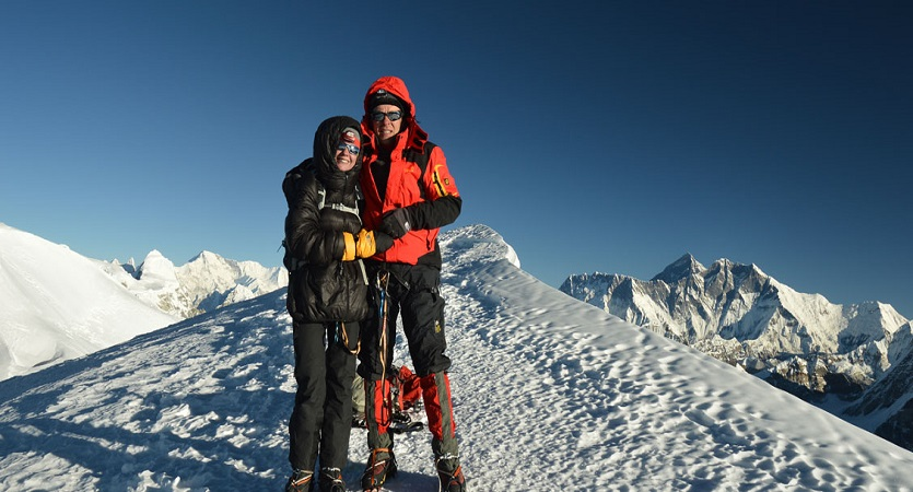 climbing at mera peak